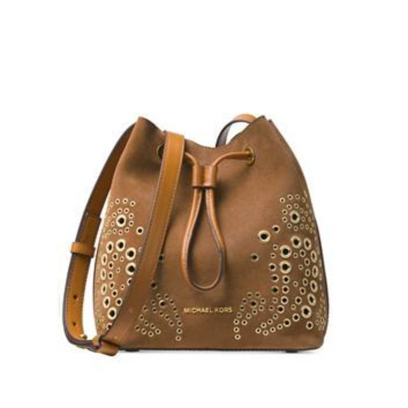 da5b68957086ca Michael Kors Bags | Cary Embellished Suede Crossbody | Poshmark